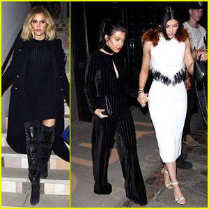 Khloe Kardashian & Kylie Jenner Attend Ouai Haircare Launch Event