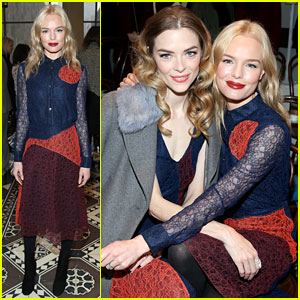 Kate Bosworth & Jaime King Cuddle Up at Tory Burch NYFW Show!