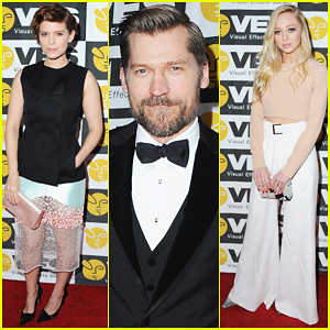 Kate Mara & Nikolaj Coster-Waldau Help Honor Visual Effects At VES Awards 2016!
