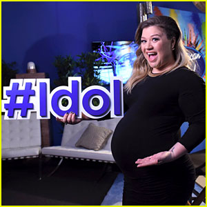 Pregnant Kelly Clarkson Puts Big Baby Bump on Display for 'Idol'