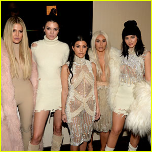 kendall amp kylie jenner are white hot at yeezy season 3