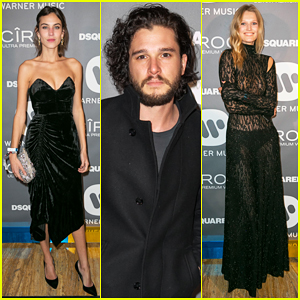 Kit Harington & Alexa Chung Live It Up At Warner Music's BRIT Awards 2016 After Party!