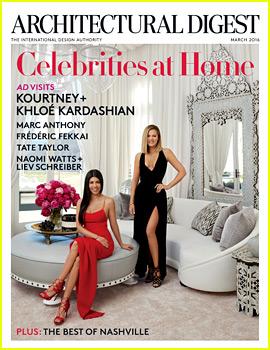 Kourtney & Khloe Kardashian Show Off Their Homes in 'Architectural Digest'