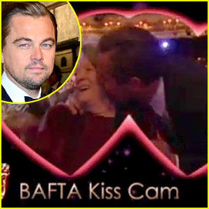 Leonardo DiCaprio Kisses Maggie Smith on BAFTAs Kiss Cam! (Video)