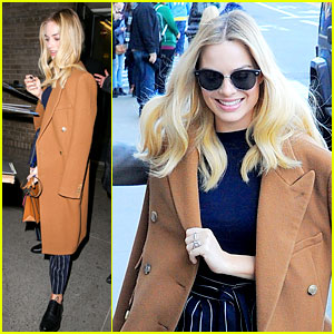 Margot Robbie Heads Back to Work Promoting Her Movies After NYFW 2016