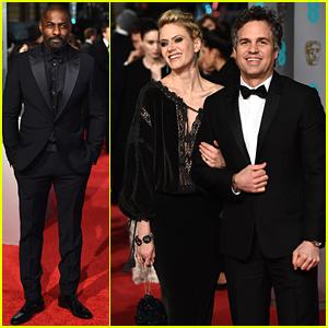 Idris Elba & Mark Ruffalo Suit Up on the BAFTAs 2016 Red Carpet