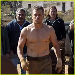 Matt Damon is Shirtless in 'Jason Bourne' Super Bowl Commercial 2016! (Video)