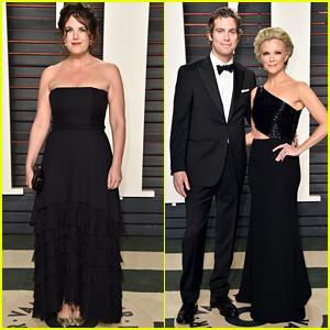 Megyn Kelly & Monica Lewinsky Match in Black at Vanity Fair Oscar Party