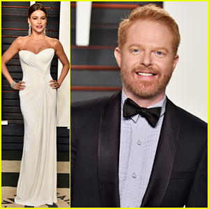 'Modern Family's Sofia Vergara & Jesse Tyler Ferguson Hit Up Vanity Fair's Oscar Party 2016!