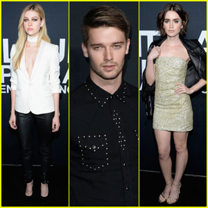 Nicola Peltz & Patrick Schwarzenegger Step Out for Saint Laurent