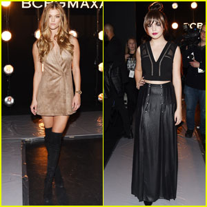 Nina Agdal & Bailee Madison Sit Front Row at BCBGMAXAZRIA