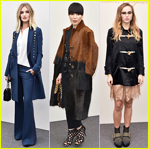 Rosie Huntington-Whiteley, Suki Waterhouse, & More Step Out For Burberry Womenswear Show!