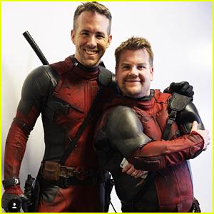 Ryan Reynolds & James Corden Team Up In 'Double Deadpool'!
