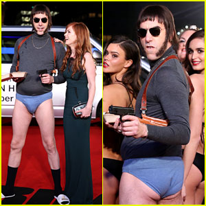 Sacha Baron Cohen Goes Pantsless at 'Grimsby' Premiere with Wife Isla Fisher!