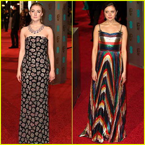 Saoirse Ronan & Bel Powley Glam Up for BAFTAs 2016!