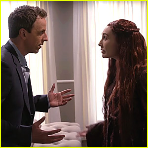 Seth Meyers Hosts Baby Shower For His Wife With 'GOT' Melisandre