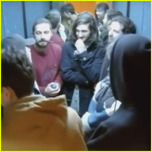 Shia LaBeouf Reluctantly Slaps Fan During Elevator Performance Art (Video)