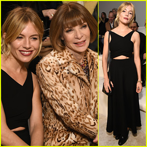 Sienna Miller & Anna Wintour Sit Front Row at Ralph Lauren's NYFW Show