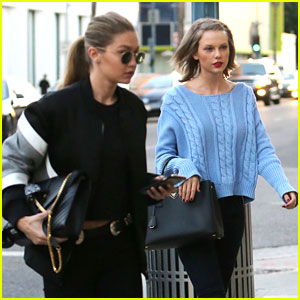 Taylor Swift & Gigi Hadid Get in Pampering with a Salon Visit