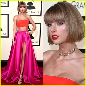 Taylor Swift Rocks Short Hair on Grammys 2016 Red Carpet!