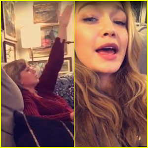 Taylor Swift Sings Along to 'Grease: Live' with Gigi Hadid (Video)