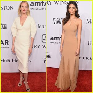 Uma Thurman & Emily Ratajkowski Hit Up amfAR Gala 2016