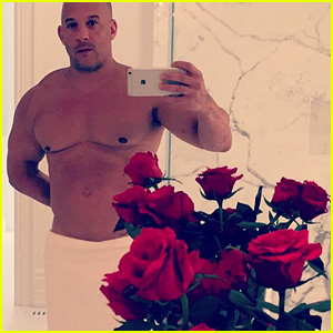 Vin Diesel Celebrates Valentine's Day with a Shirtless Towel Photo, Cute Video with Baby Pauline!