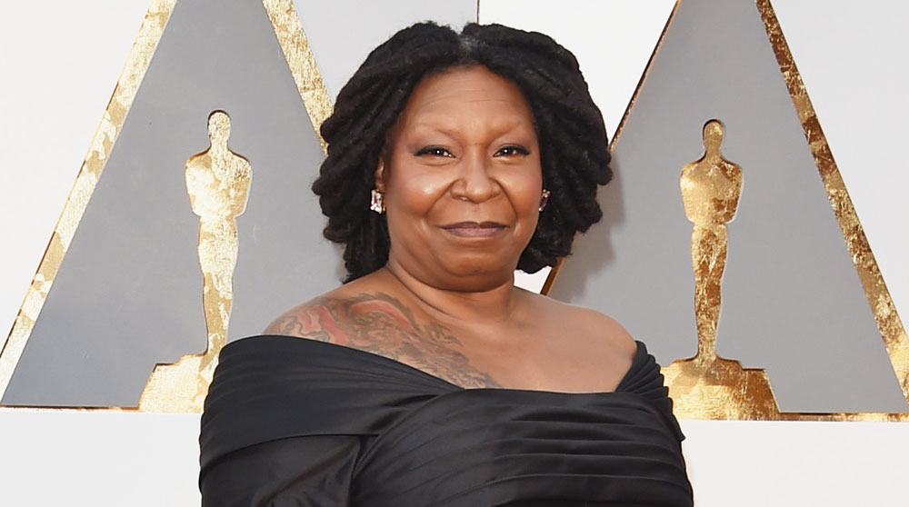 Whoopi goldberg reacts to oprah confusion at oscars 2016 for Whoopi goldberg tattoo
