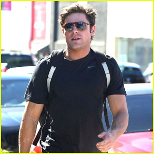 Zac Efron Works Up a Sweat in Pre-Fashion Show Workout