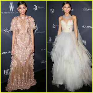 Zendaya Does a Dress Change at Weinstein Company's Pre-Oscar Dinner
