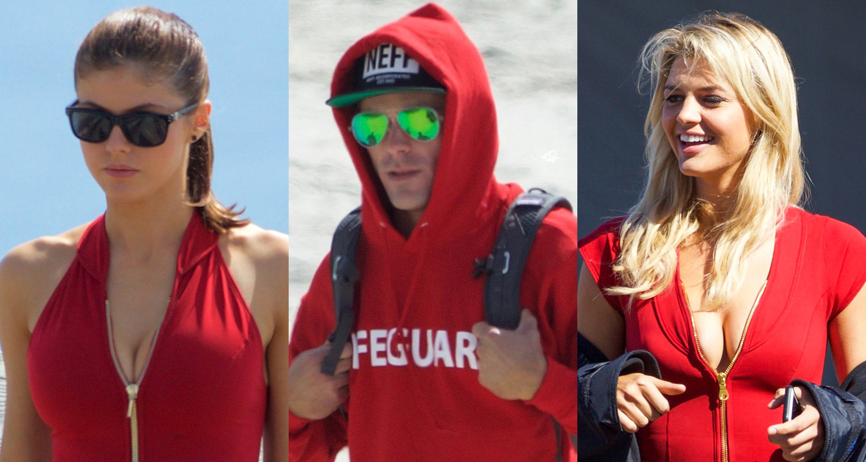 Zac Efron & Alexandra Daddario Hit the Beachy 'Baywatch' Set