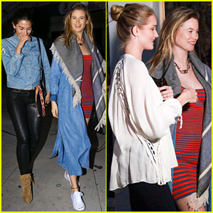 Behati Prinsloo, Lily Aldridge, & Rosie Huntington-Whiteley Grab Dinner!