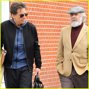 Ben Stiller & Dustin Hoffman Film 'Yeh Din Ka Kissa' in NYC