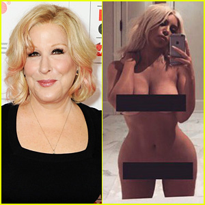 Bette Midler Throws Shade at Kim Kardashian's NSFW Selfie