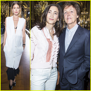 Doutzen Kroes, Paul McCartney & Wife Nancy Shevell Sit Front Row At Stella McCartney Show!