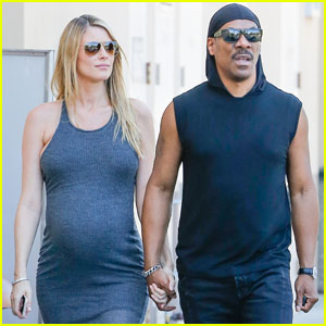 Eddie Murphy & Pregnant Girlfriend Paige Butcher Get Coffee