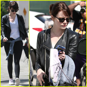 Emma Stone Continues to Work Out for Billie Jean King Role