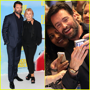 Hugh Jackman Gets Support From Deborra-Lee Furness At 'Eddie The Eagle' Australia Premiere!