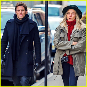 James Marsden Steps Out in NYC with Rumored Girlfriend Edei