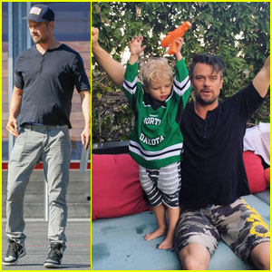 Josh Duhamel Celebrates Hockey Win With Cutie Pie Son Axl