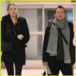 Jude Law & Girlfriend Phillipa Coan Jet Out of New York City