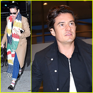 Katy Perry & Orlando Bloom Fly Out of New York After Hillary Clinton Concert