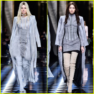 Kendall Jenner Goes Bleached Blonde for Balmain Runway
