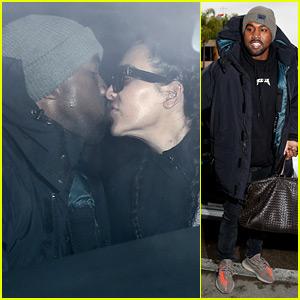 da220fbd3 Kim Kardashian   Kanye West Kiss During LAX Airport Dropoff