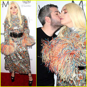 Lady Gaga Supports Stylist Brandon Maxwell at Daily Front Row Awards!