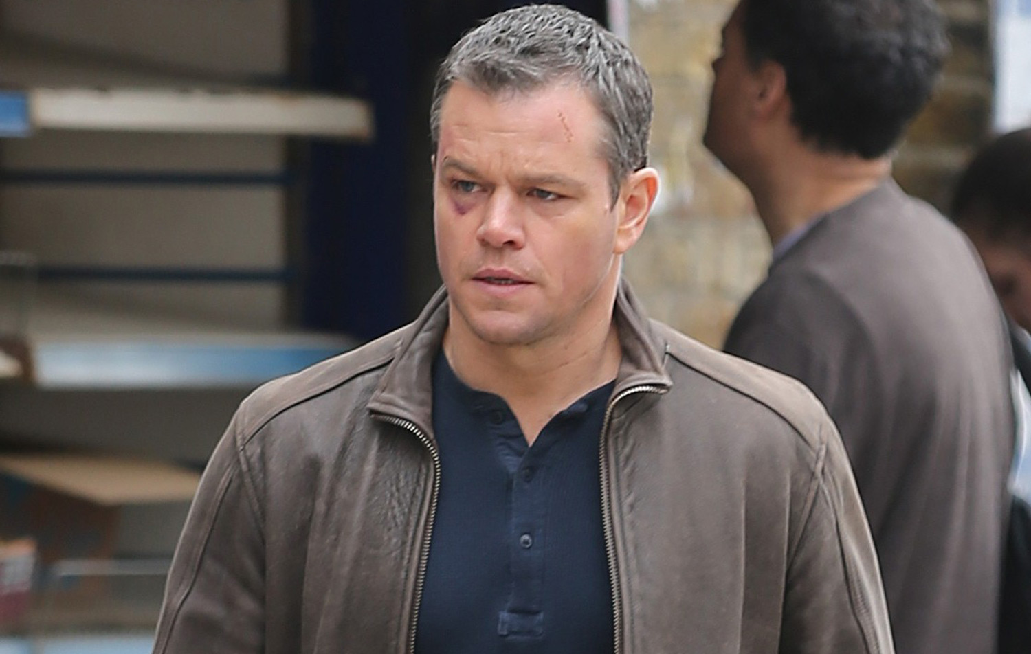 matt damon says title of fifth bourne installment will make sense when the film debuts matt. Black Bedroom Furniture Sets. Home Design Ideas