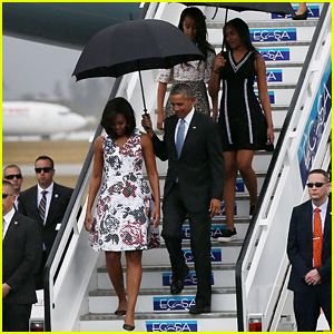 President Obama & His Family Arrive in Cuba