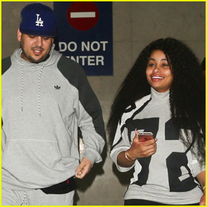 Rob Kardashian & Blac Chyna Return Home From Romantic Jamaican Getaway