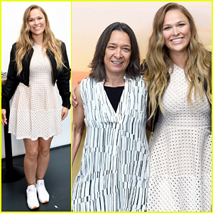 Ronda Rousey Helps Reebok Host Inspirational Women Luncheon!