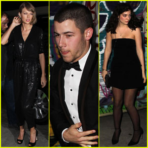 Daydream Stars Taylor Swift Nick Jonas Lorde Party For Lady Gaga S Birthday